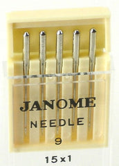 Janome standard sewing machine needles UK Size 9 - Metric Size 60 (15x1)