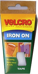 Velcro Iron-On Tape 1mx16mm White