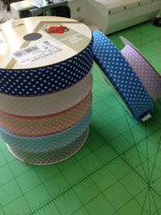 Polka Dot Spot 25mm Bias Binding folded