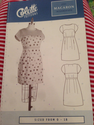 Colette Intermediate Dress Pattern 1001 Macaron