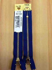 YKK Brass Jeans Zip 13cm 5inch Royal Blue (039)