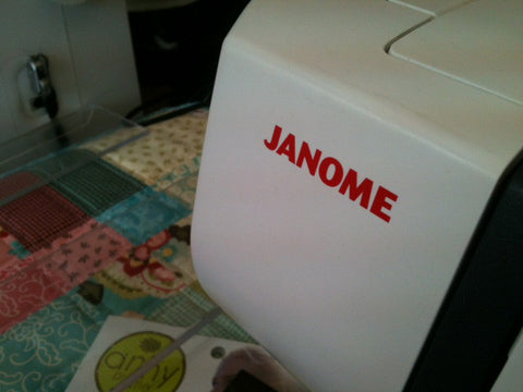 Janome Foot Control  White Metal