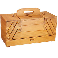 Light Wood Cantilever Workbox Large with Draw