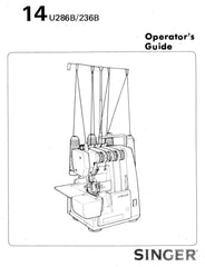 Singer 14U286 - Overlock Manual