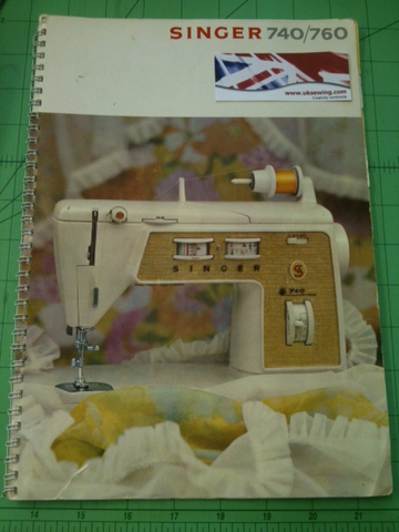Singer 740 760 Touch & Sew Instruction Book
