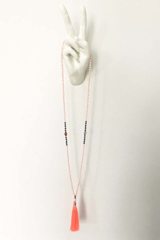 TASSEL NECKLACE PEACHY