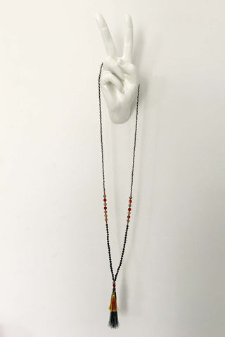 NECKLESS TASSEL ASH