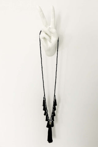 TASSEL NECKLACE JET
