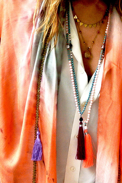 TASSEL NECKLACE VINO