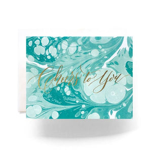 Marble Cheers Greeting Card