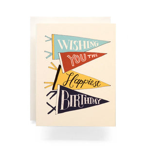 Pennant Birthday Greeting Card
