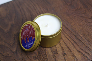 Akron Candle Co. Gold Tin Candle