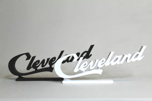 Mini Cleveland Script Sign