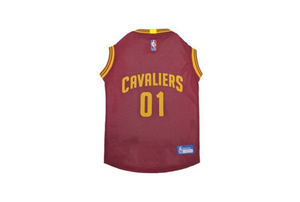 Cleveland Cavaliers Mesh Basketball Dog Jersey