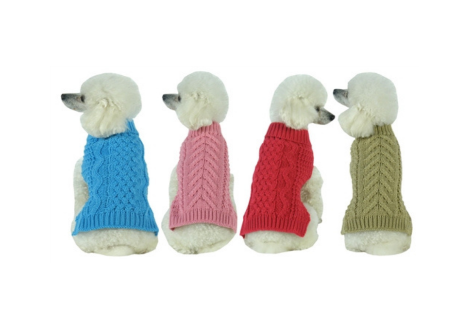 Heavy Cable Knit Dog Sweater
