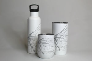 Cleveland Map Insulated Pint Tumbler