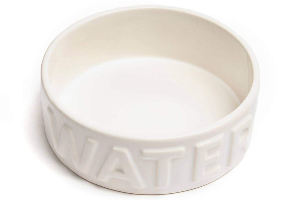 Classic Water White Pet Bowl