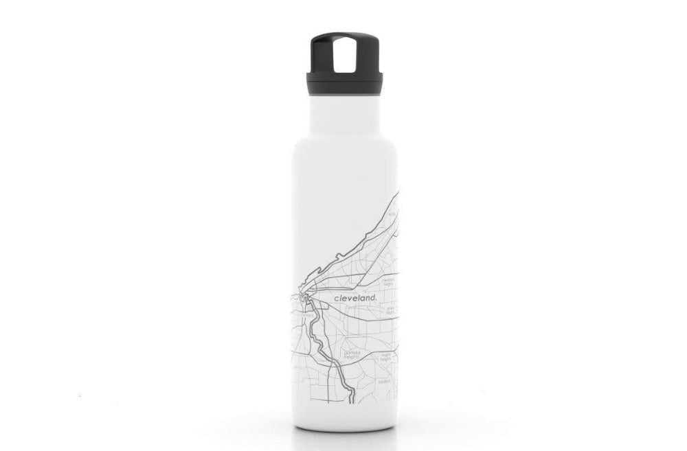 Cleveland Map Insulated Water Bottle