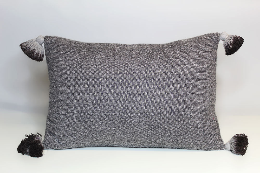 Gray Tassle Pillow