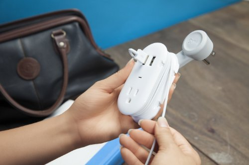 Quirky PCON2-WH01 Portable Power Supply Provides Both USB and AC Contort Power