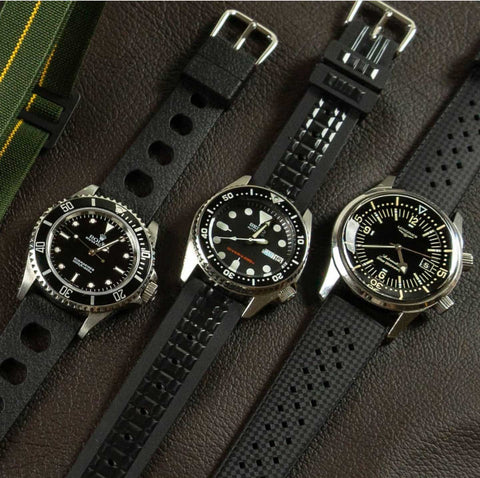 Cheapestnatostraps tropic sport 2.0 TPU captain willard chocolate bar apocalypse now vintage tropic 2.0 TPU rubber straps Marine nationale paratrooper man style rolex submariner longines seiko urchin