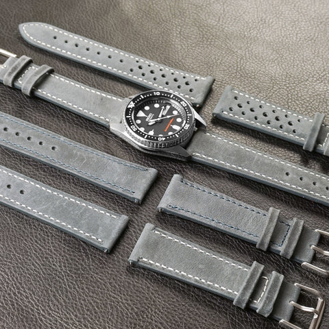 Kvarnsjö Gray Cheapestnatostraps Classic gray Seiko Paratrooper Marine Nationale man style