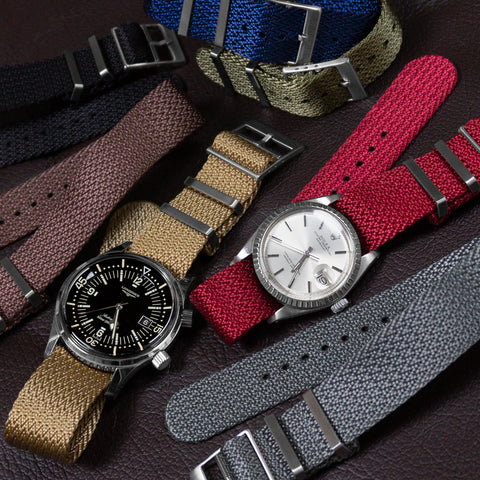 SharkTooth cheapestnatostraps rolex datejust Longines Legend diver Khaki burgundy gray brown navy khaki green adjustable chevron