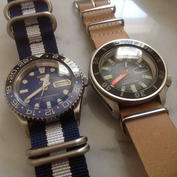 Zulu strap SS 5-ring Navy and White - Cheapest NATO Straps  - 8