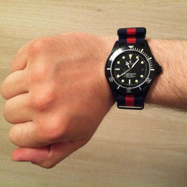 Extra Long PVD NATO Strap Navy and Red - Cheapest NATO Straps  - 3