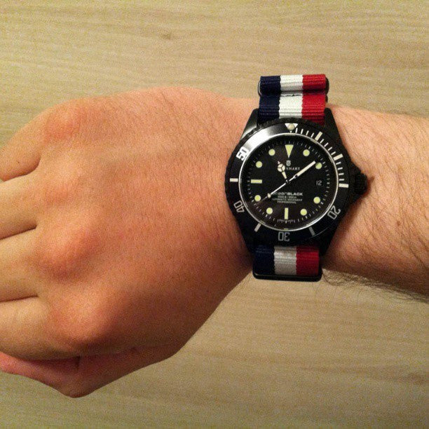 PVD premium NATO Strap Red, White and Navy - Cheapest NATO Straps  - 3