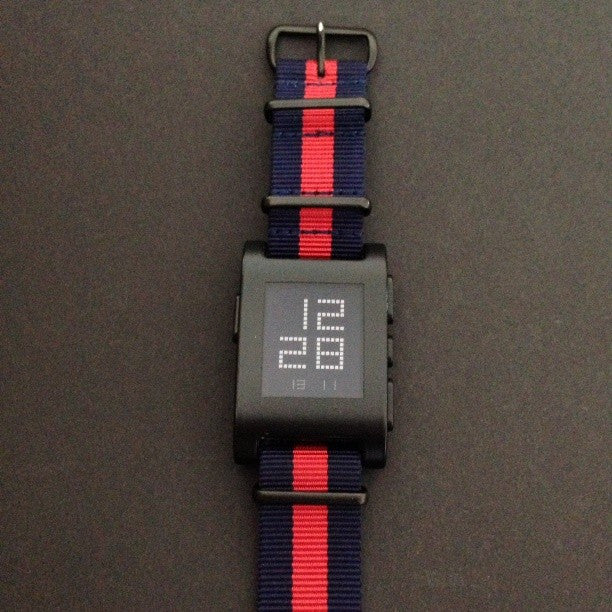 Extra Long PVD NATO Strap Navy and Red - Cheapest NATO Straps  - 5