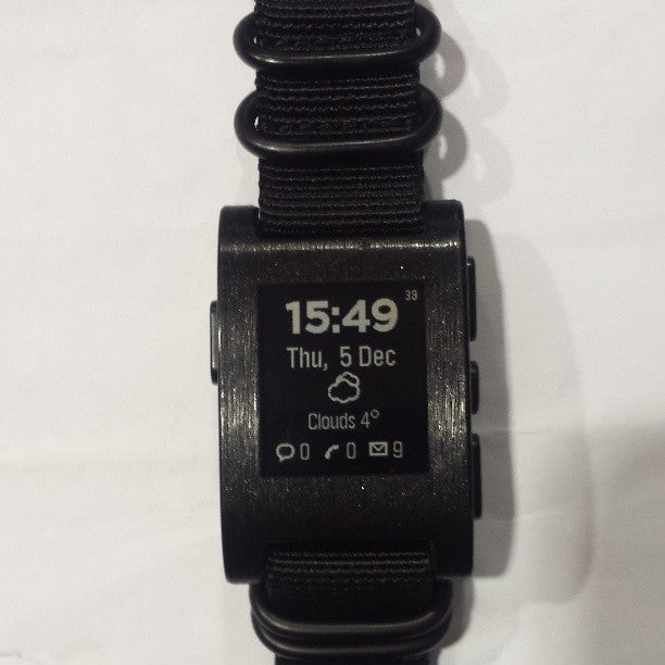 Extra Long PVD Zulu Strap 5-ring Black - Cheapest NATO Straps  - 11