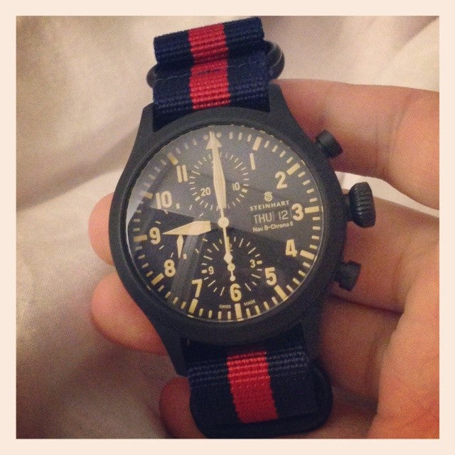 PVD Zulu Strap 5-ring Navy and Red - Cheapest NATO Straps  - 3