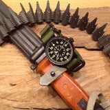 Extra Long PVD Zulu Strap 5-ring Khaki Green - Cheapest NATO Straps  - 15