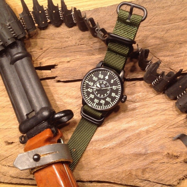Extra Long PVD Zulu Strap 5-ring Khaki Green - Cheapest NATO Straps  - 16
