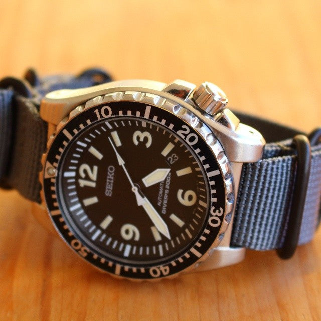 Extra Long PVD Zulu Strap 5-ring Gray - Cheapest NATO Straps  - 3