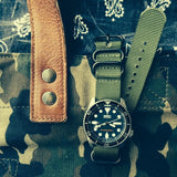 Extra Long PVD Zulu Strap 5-ring Khaki Green - Cheapest NATO Straps  - 7