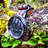 PVD Zulu Strap 5-ring Black, Red and Green