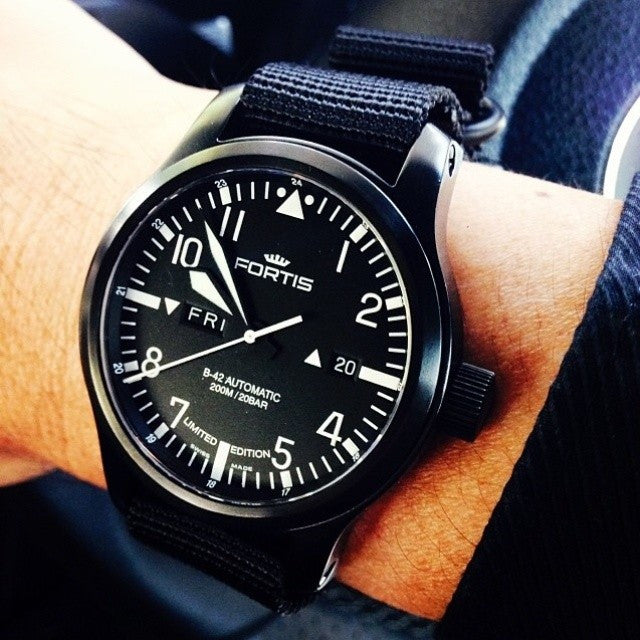 Extra Long PVD Zulu Strap 5-ring Black - Cheapest NATO Straps  - 3