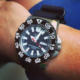 Extra Long PVD Zulu Strap 5-ring Black - Cheapest NATO Straps  - 12