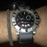 Extra Long PVD Zulu Strap 5-ring Gray - Cheapest NATO Straps  - 8