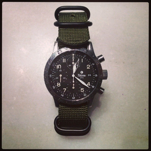 Extra Long PVD Zulu Strap 5-ring Khaki Green - Cheapest NATO Straps  - 18