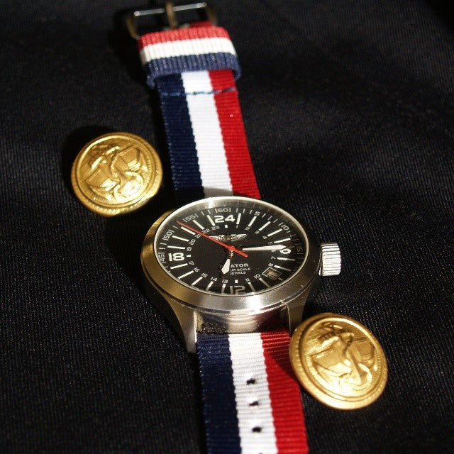 Original NATO Strap Red, White and Navy - Cheapest NATO Straps  - 5