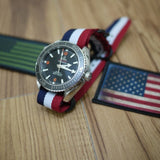 PVD Zulu Strap 5-ring Red, White and Navy - Cheapest NATO Straps  - 4