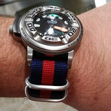 Zulu strap SS 5-ring Navy and Red - Cheapest NATO Straps  - 5