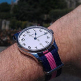Premium Original NATO Strap Navy and Pink - Cheapest NATO Straps  - 3