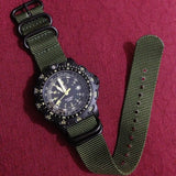 Extra Long PVD Zulu Strap 5-ring Khaki Green - Cheapest NATO Straps  - 19
