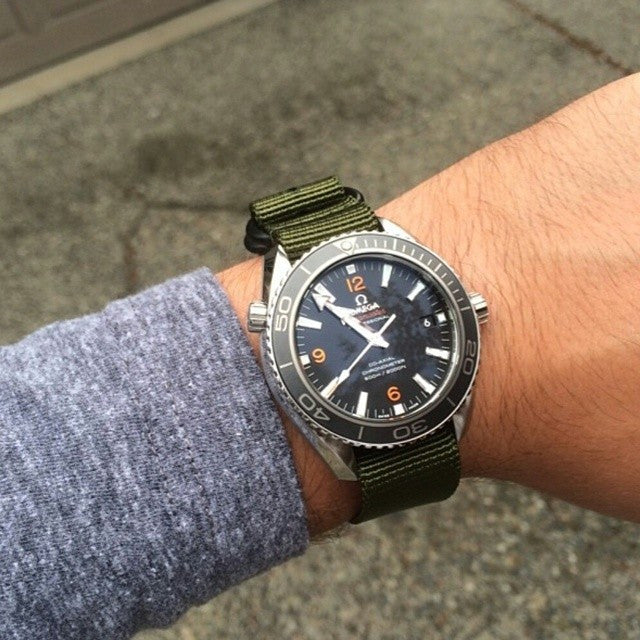 Extra Long PVD Zulu Strap 5-ring Khaki Green - Cheapest NATO Straps  - 6