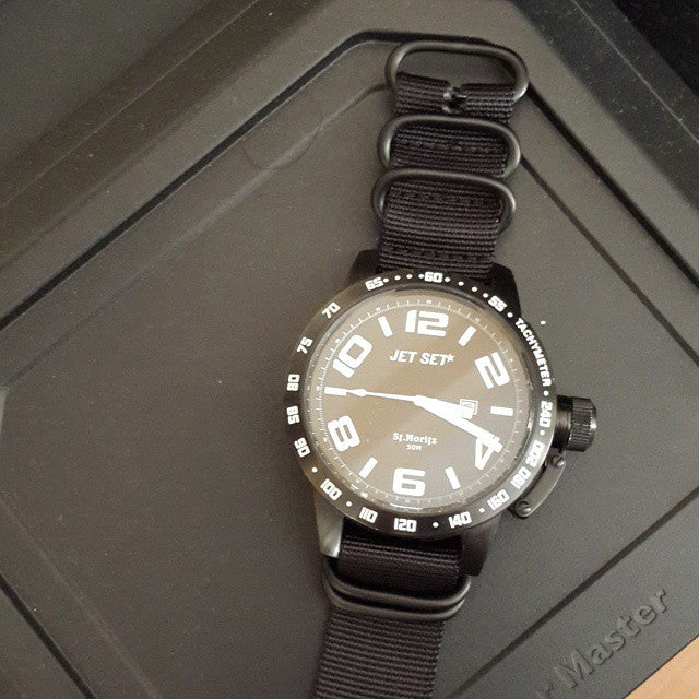 Extra Long PVD Zulu Strap 5-ring Black - Cheapest NATO Straps  - 15
