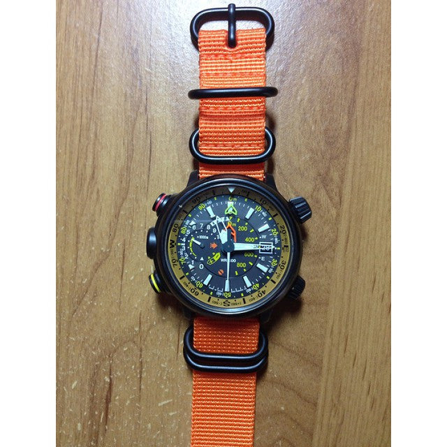 Extra Long PVD Zulu Strap 5-ring Orange - Cheapest NATO Straps  - 10